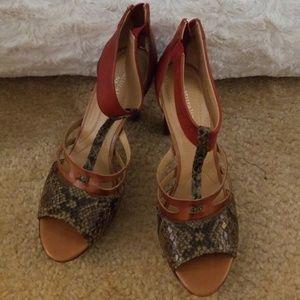 Naturalizer leather & snake print heels